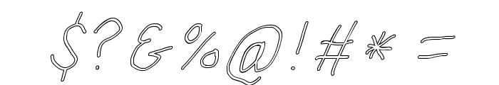 SuplexDriver Regular Oblique Outline Font OTHER CHARS