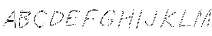 SuplexDriver Regular Oblique Outline Font UPPERCASE