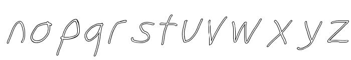 SuplexDriver Regular Oblique Outline Font LOWERCASE