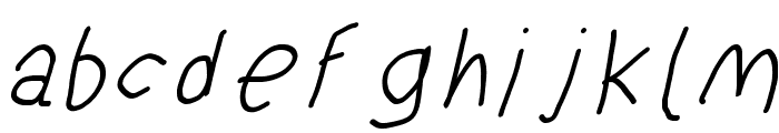 SuplexDriver Regular Oblique Font LOWERCASE