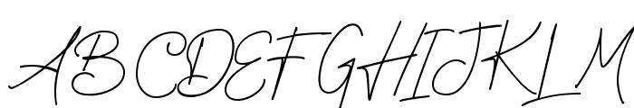 Sureder Stylish Font UPPERCASE