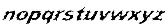Surf Punx Italic Font LOWERCASE