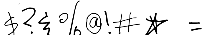 Surrendered Heart Font OTHER CHARS
