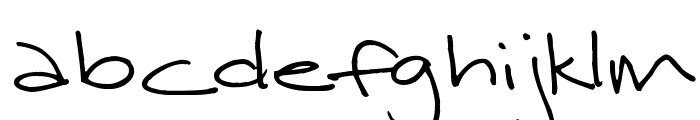 Surrendered Heart Font LOWERCASE
