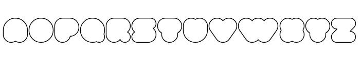 superbubbles Outline Font UPPERCASE