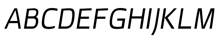 superficialbookitalic Font UPPERCASE