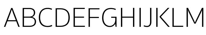 SukhumvitSet-Thin Font UPPERCASE