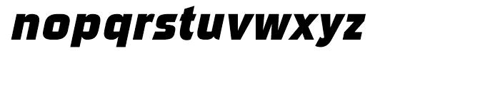 Sui Generis Condensed Heavy Italic Font LOWERCASE