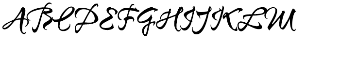 Sunetta Magic Font UPPERCASE