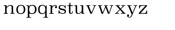 Superclarendon Light Font LOWERCASE