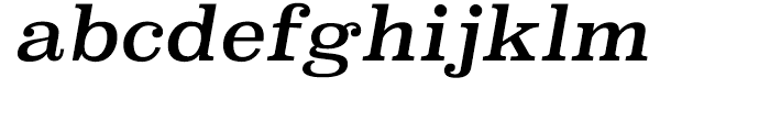 Superclarendon Regular Italic Font LOWERCASE
