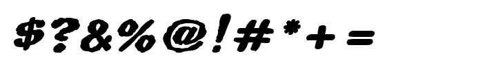 Superhero Rough Bold Oblique Font OTHER CHARS
