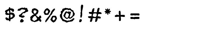 Superhero Rough Regular Font OTHER CHARS