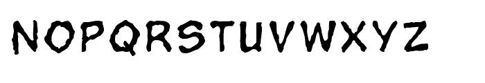 Superhero Rough Regular Font UPPERCASE