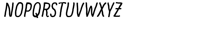 Supernett cn Italic Font UPPERCASE