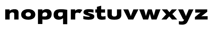 Supra Extended Black Font LOWERCASE