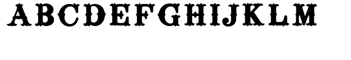 Surrey Black Font UPPERCASE
