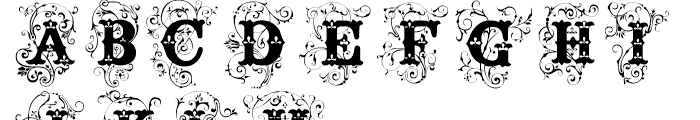 Surrey Regular Font UPPERCASE
