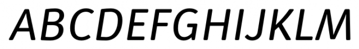 Submariner R24 Book Italic Font UPPERCASE