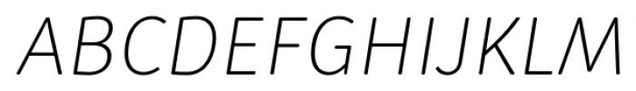 Submariner R24 Extra Light Italic Font UPPERCASE