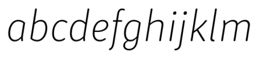 Submariner R24 Extra Light Italic Font LOWERCASE