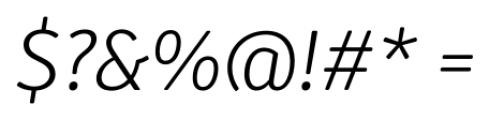Submariner R24 Light Italic Font OTHER CHARS