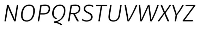 Submariner R24 Light Italic Font UPPERCASE