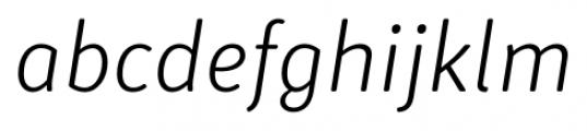 Submariner R24 Light Italic Font LOWERCASE