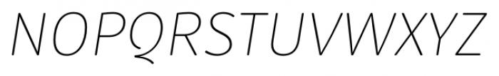 Submariner R24 Thin Italic Font UPPERCASE