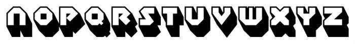 Sudbury Basin 3D Font LOWERCASE