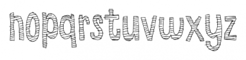 Summer fades away Regular Font LOWERCASE