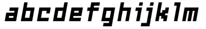Subito ExtraBold Oblique Font LOWERCASE