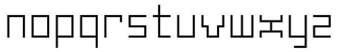 Subito Light Font LOWERCASE