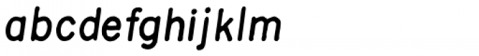 Sublime Medium Italic Font LOWERCASE