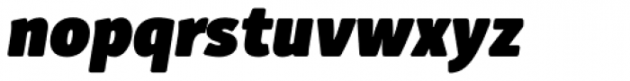 Submariner R24 Heavy Italic Font LOWERCASE