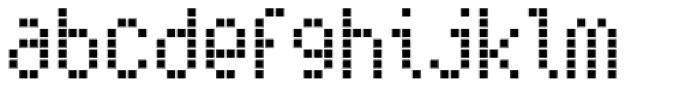 Subway Ticker Font LOWERCASE