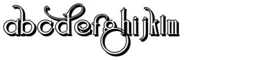 Suciellid Shadow Font LOWERCASE