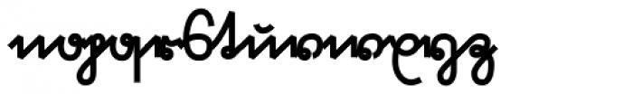 Suetterlin Crisp Heavy Font LOWERCASE