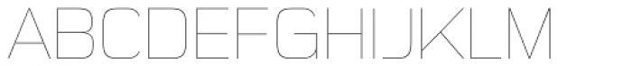 Sui Generis Cond UltraLight Regular Font UPPERCASE