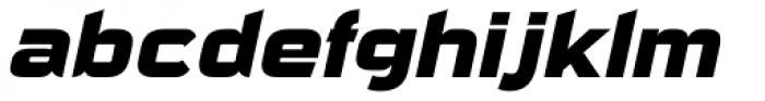Sui Generis Heavy Italic Font LOWERCASE