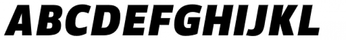 Suit Sans Pro Heavy Italic Font UPPERCASE