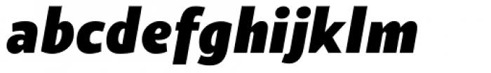 Suit Sans Pro Heavy Italic Font LOWERCASE