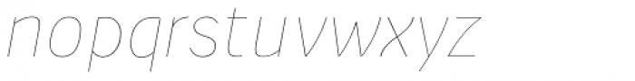 Suit Sans Pro Ultra Thin Italic Font LOWERCASE