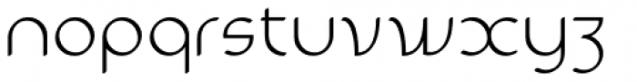 Sultania Light Font LOWERCASE