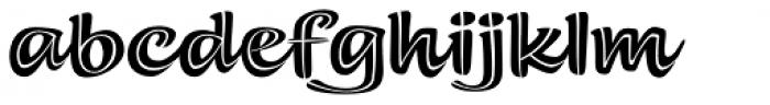 Summer Fling Split Regular Font LOWERCASE