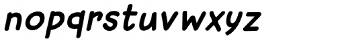 Sunbird Medium Italic Font LOWERCASE