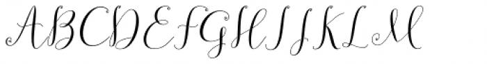Sundaris Script Regular Font UPPERCASE