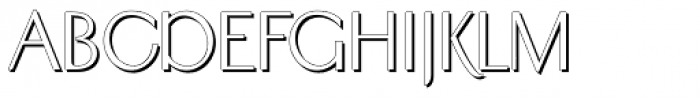 Sundial Sans Shadow Font UPPERCASE