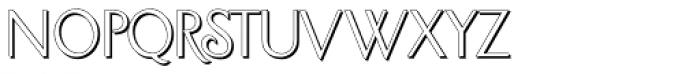 Sundial Sans Shadow Font LOWERCASE