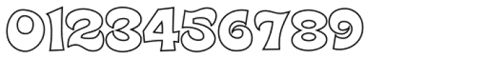 Super Delicious BTN Outline Font OTHER CHARS